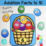 Addition facts to 10 -  Math Centre Activity