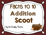 Addition Facts to 10 - Scoot Activity