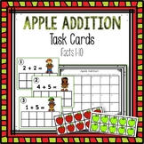Addition facts to 10 Task Cards (Apple Theme)