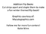 Addition flip books - Winter theme