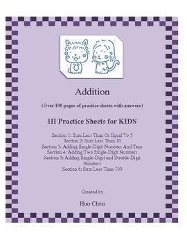 Addition for KIDS (HI Practice Sheets for KIDS)