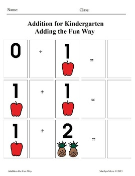 Addition for Kindergarten Adding the Fun Way