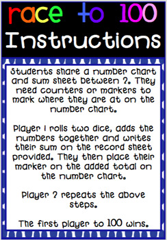 Addition games - Race to 30,50,100