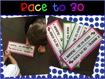 Race to Addition Games Pack - Race to 30,50,100