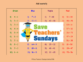 Addition lesson plans, worksheets and more