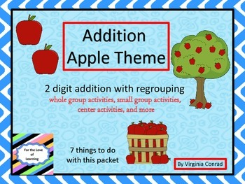Addition of 2 Digit Numbers--Apple Theme