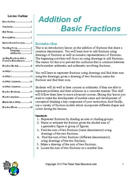 Addition of Basic Fractions