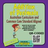 Addition of Decimals – Australian Curriculum Year 6 – Extension Activity