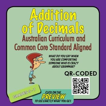 Addition of Decimals – Australian Curriculum Year 6 – Exte
