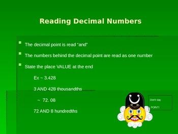 Addition of Decimals Power Point