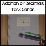 Addition of Decimals Task Cards