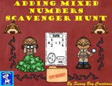 Adding Mixed Numbers Scavenger Hunt