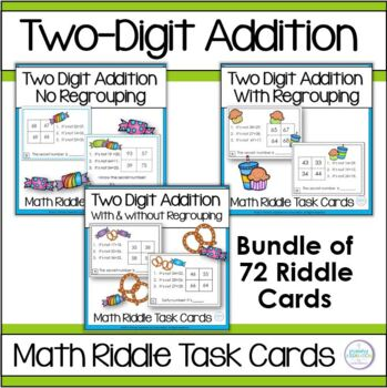 Adding Two-Digit Numbers Task Card Bundle