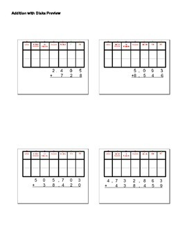 Addition of Whole Numbers with Place Value Disks Smart Notebook Activity