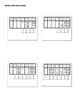 Addition of Whole Numbers with Place Value Disks Smart Not