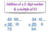 Addition of two-digit number and a multiple of ten - Commo