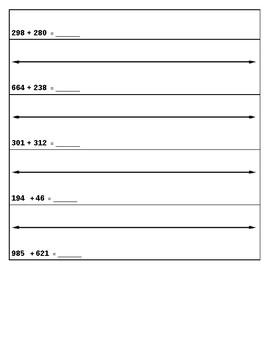 Addition on a Number Line - 3.NBT.2