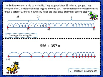 Addition on a Numberline Task Cards