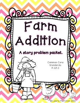 Addition on the Farm Story Problem Packet