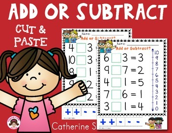 Addition or Subtraction Cut and Paste