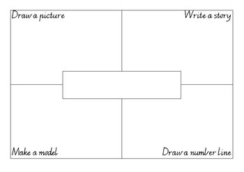 Addition or Subtraction Problem Thinkboard