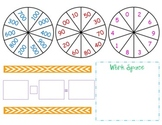 Addition or Subtraction Spinners/Game