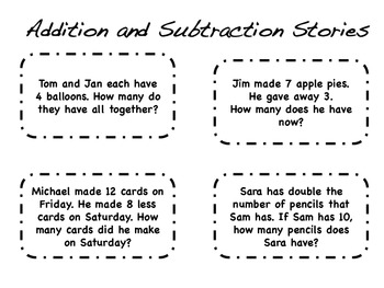 Addition or Subtraction?  Word Problem Centers!