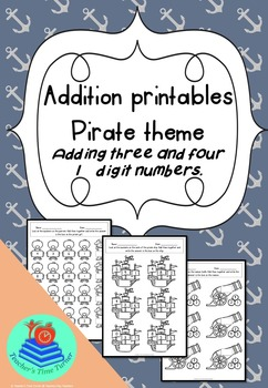 Addition printables - Pirate theme