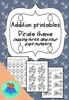Addition printables - Pirate theme