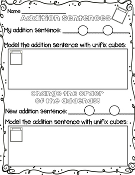 Addition Sentence Practice & Changing Addends