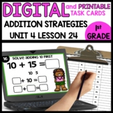Addition strategies | DIGITAL TASK CARDS | PRINTABLE TASK CARDS