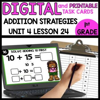 Addition strategies | DIGITAL TASK CARDS | PRINTABLE TASK CARDS