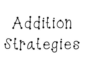 Addition strategies board