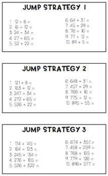 Addition strategies differentiated unit of work {4 strategies + assessment}