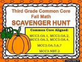 Third Grade Math FREE Common Core Fall Scavenger Hunt