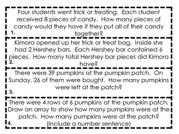 Third Grade Math FREE Common Core Fall Scavenger Hunt