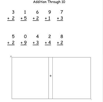 Addition sums through 10
