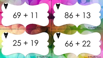 Addition task cards - 0 to 99 with and without regrouping