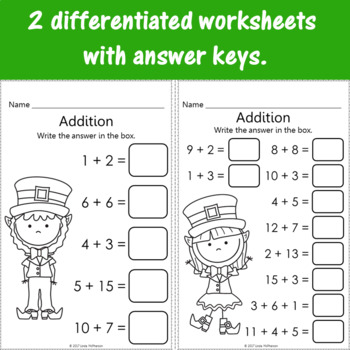 Addition to 1 to 20 Interactive Math Game {Dancing Leprechaun}