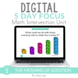 Addition to 10 | 1st Grade Digital Distance Learning Math Intervention