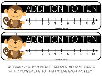 Addition to 10 {A Math Around the Room Center}