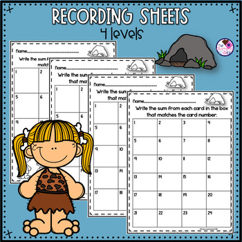 Addition to 10 Activity With Poke Cards and Worksheets
