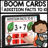 Addition to 10 using Boom Cards | 1st Grade Digital Task Cards Distance Learning