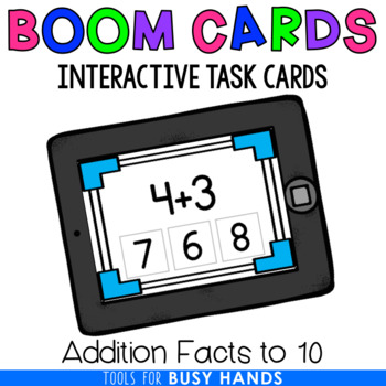 Addition to 10 Interactive Digital Task Cards (Boom! Deck)