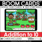 Addition to 10 | Boom Cards™ for Distance Learning