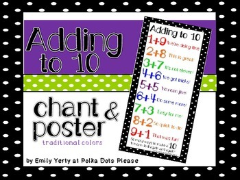 Addition to 10 Chant and Poster in Primary Colors