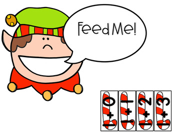 Addition to 10 Christmas Math Center (Hungry, Hungry Elf)