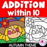 Addition to 10 Color by Number Fall Set | Addition to 10 F