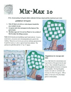 Combinations of 10 (Decomposing Numbers) Mix-Max 10 Fall Themes