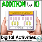 Addition to 10 Digital Activity | Distance Learning